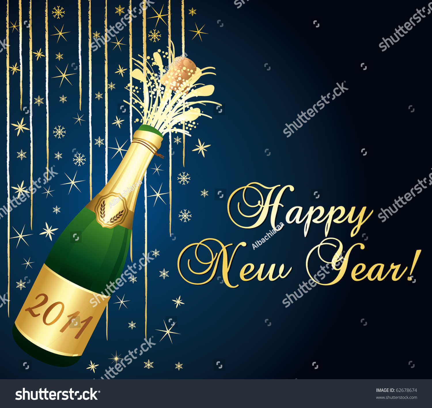 Happy New Year 2011 Greeting Card Stock Illustration 62678674
