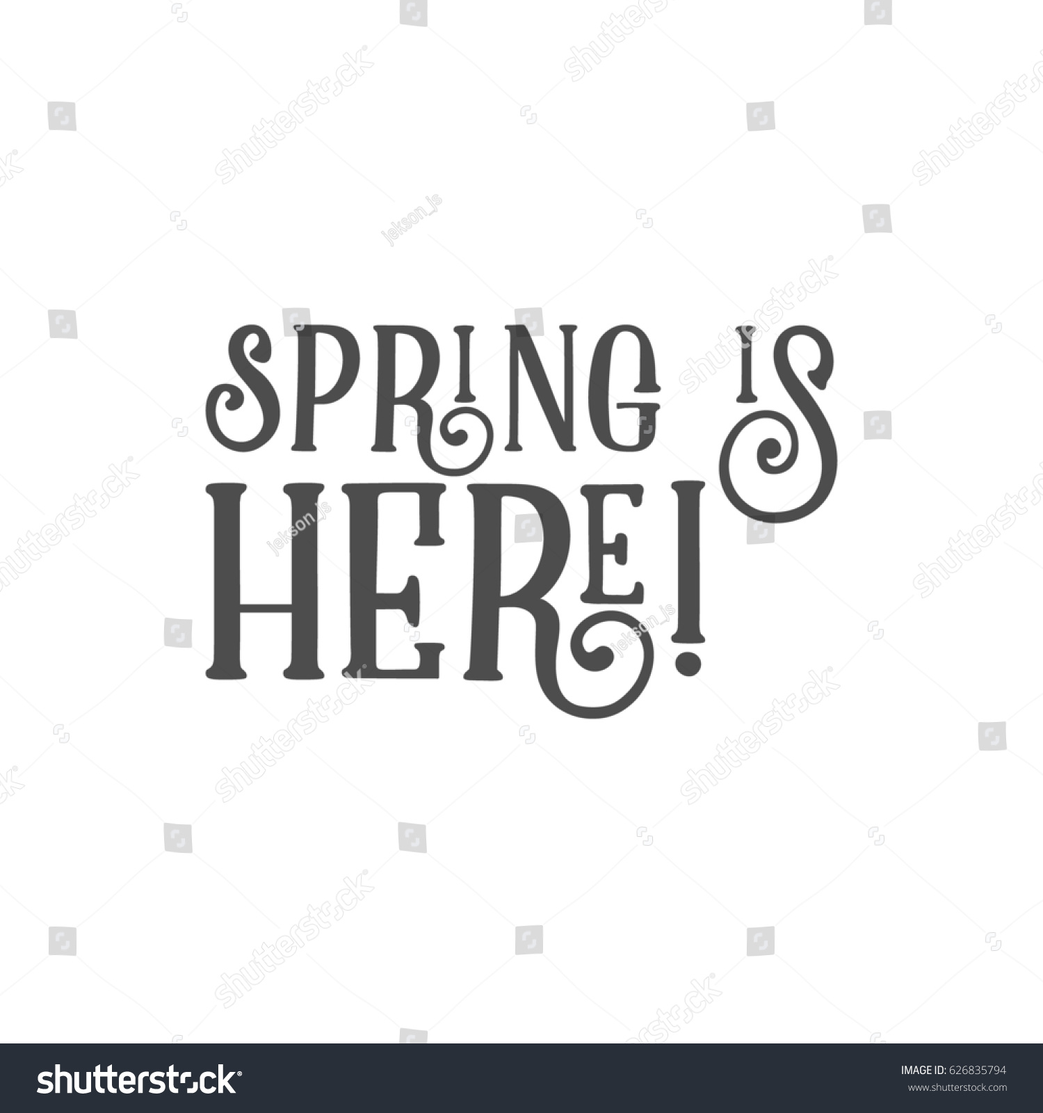 easter sign spring here holiday wish stock illustration 626835794