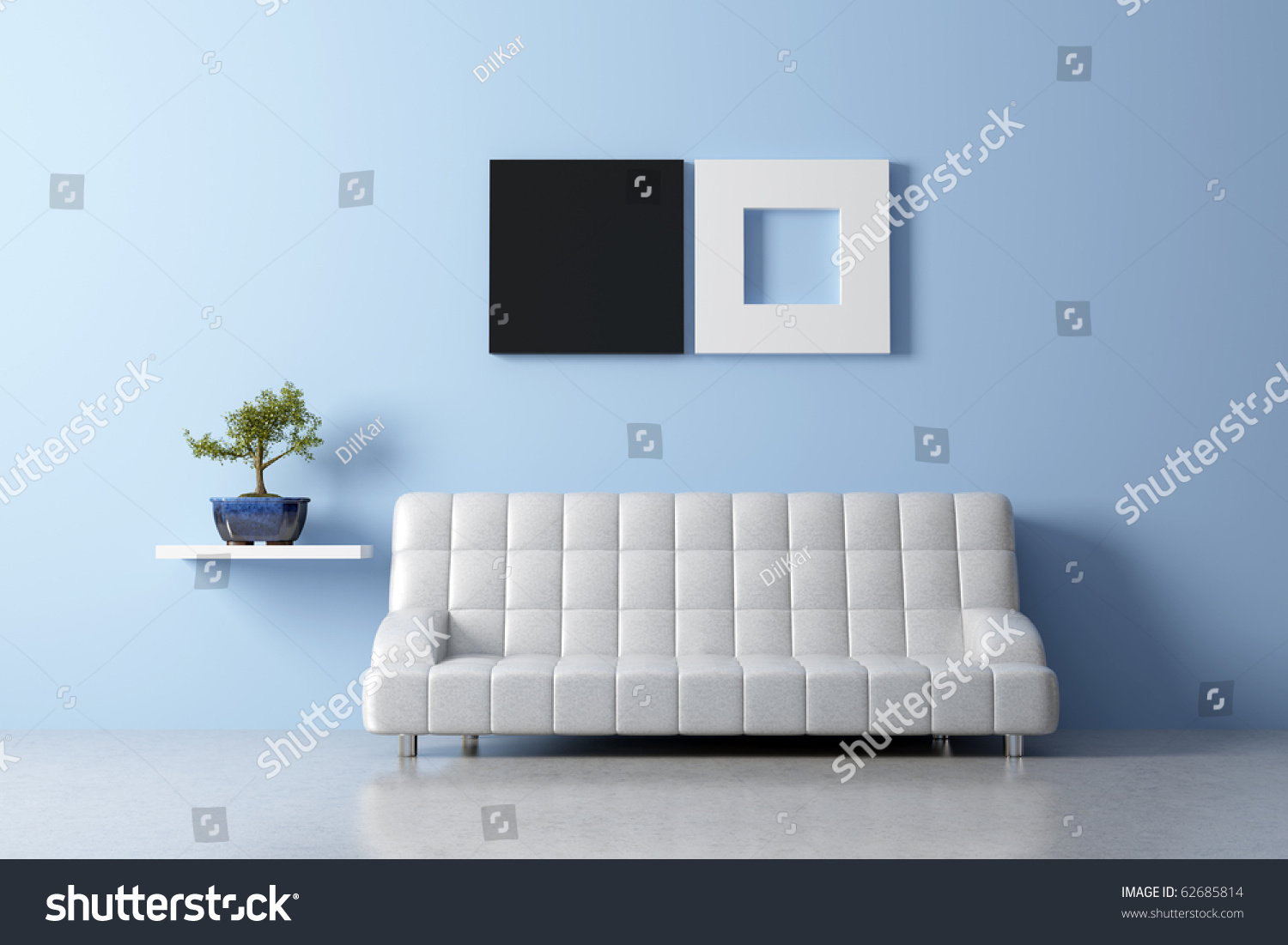 Modern feng shui interior with sofa foto stock 62685814 for Modern feng shui