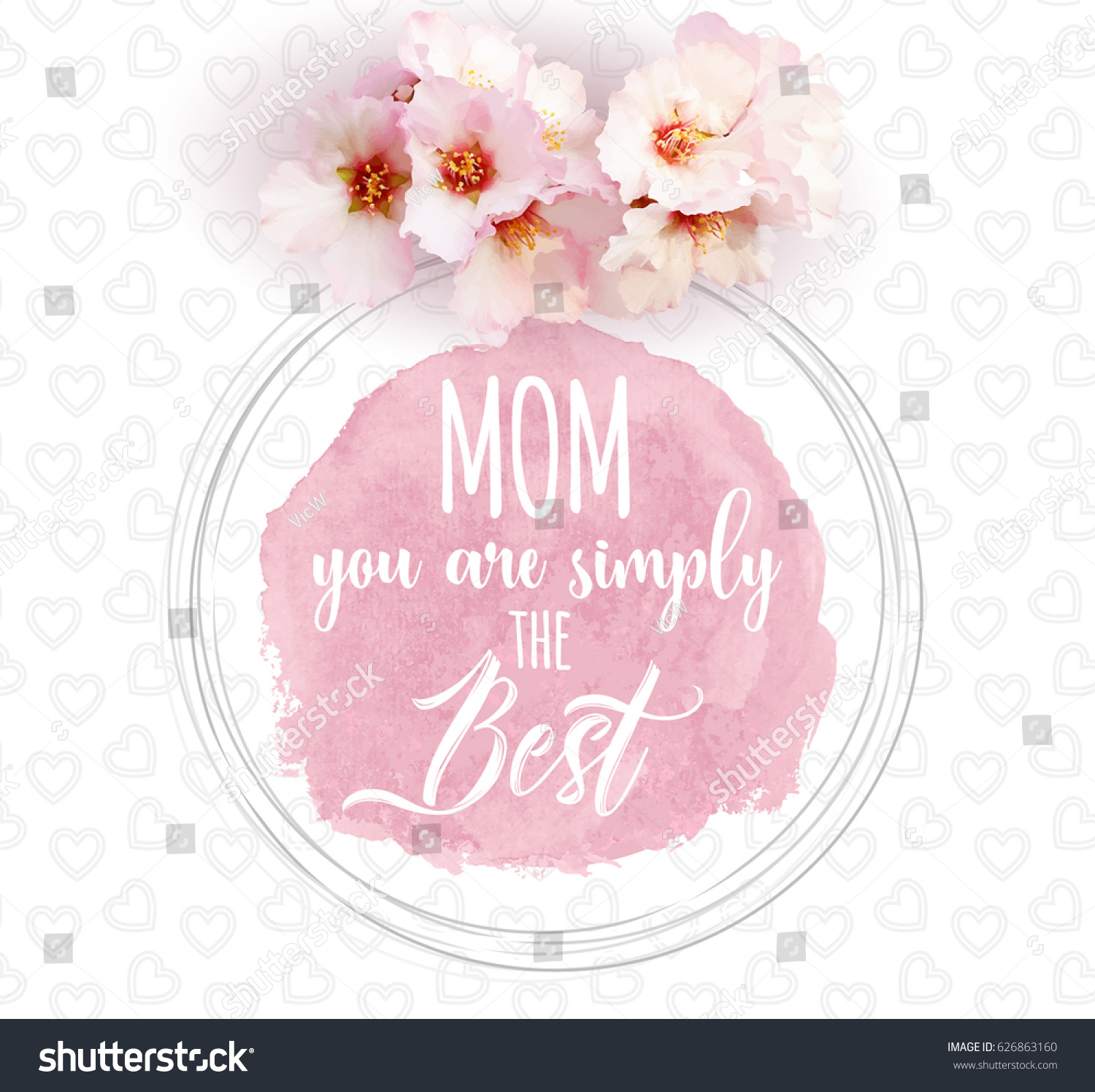 Happy Mothers Day Background Motivational Quote Stock Vector
