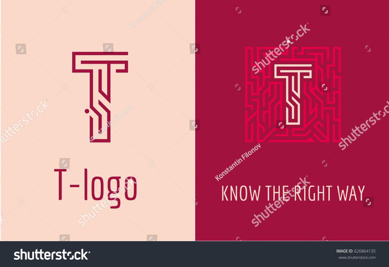 Creative logo corporate identity company letter stock vector creative logo for corporate identity of company letter t the logo symbolizes labyrinth buycottarizona Image collections
