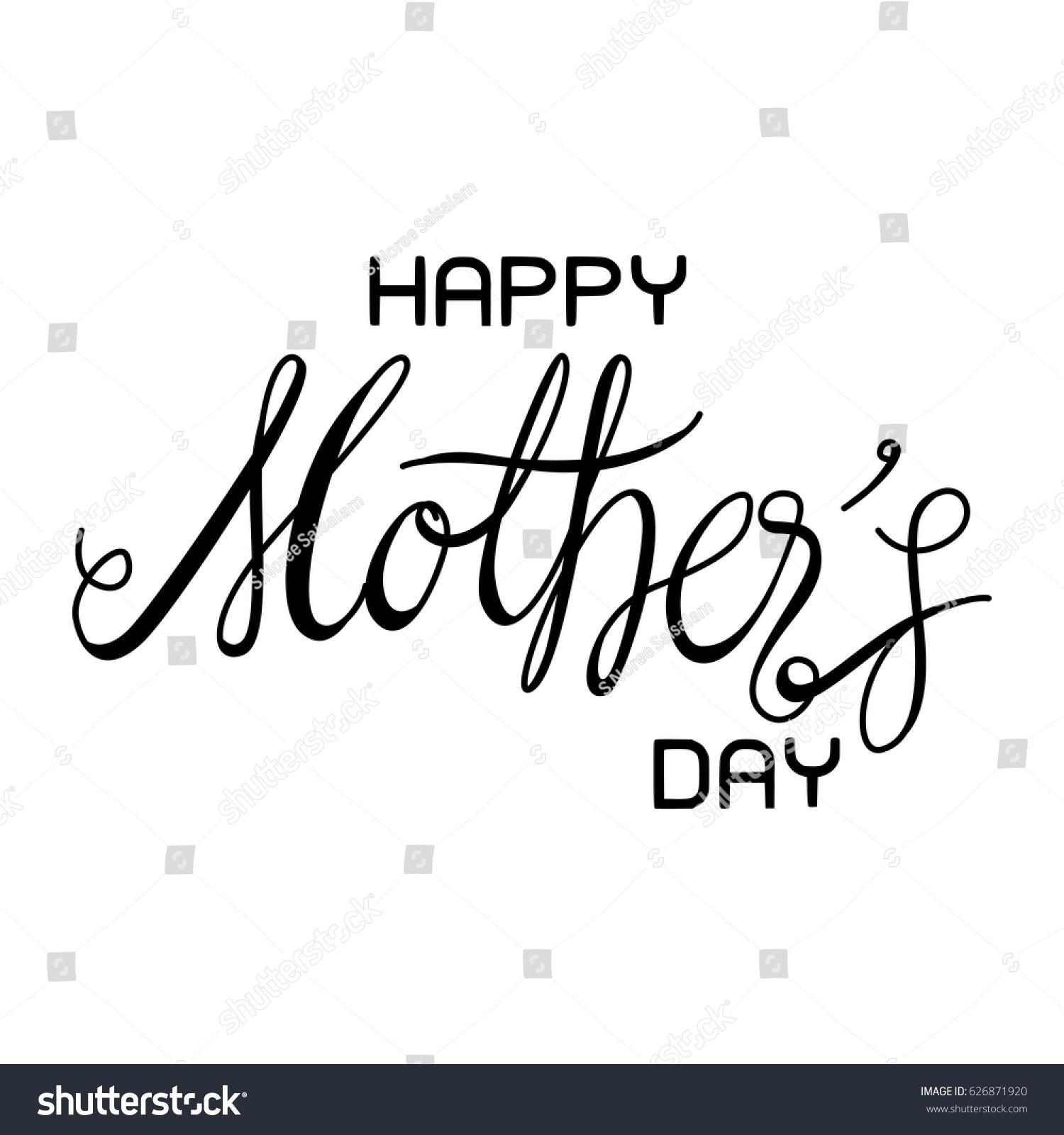 Happy Mothers Day Letter Vector Stock Vector Shutterstock