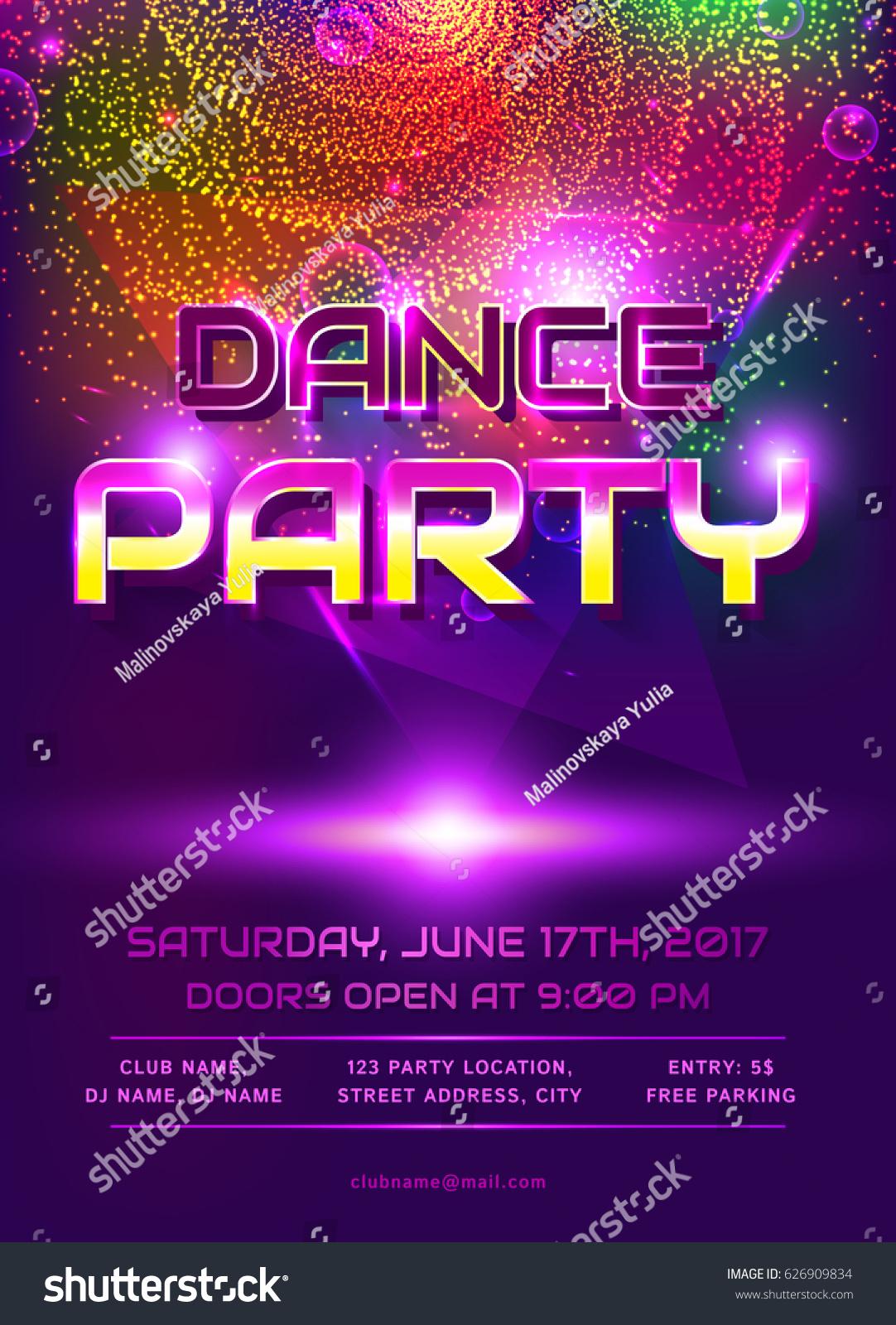 Comfortable Dj Party Invitations Gallery Invitation Card Ideas - Party invitation template: dance party invitations templates