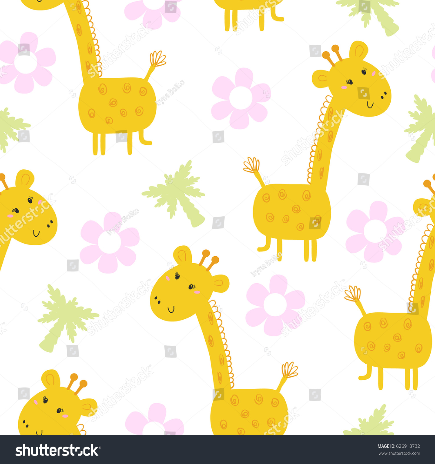 cute giraffe pattern print for kids printable templates