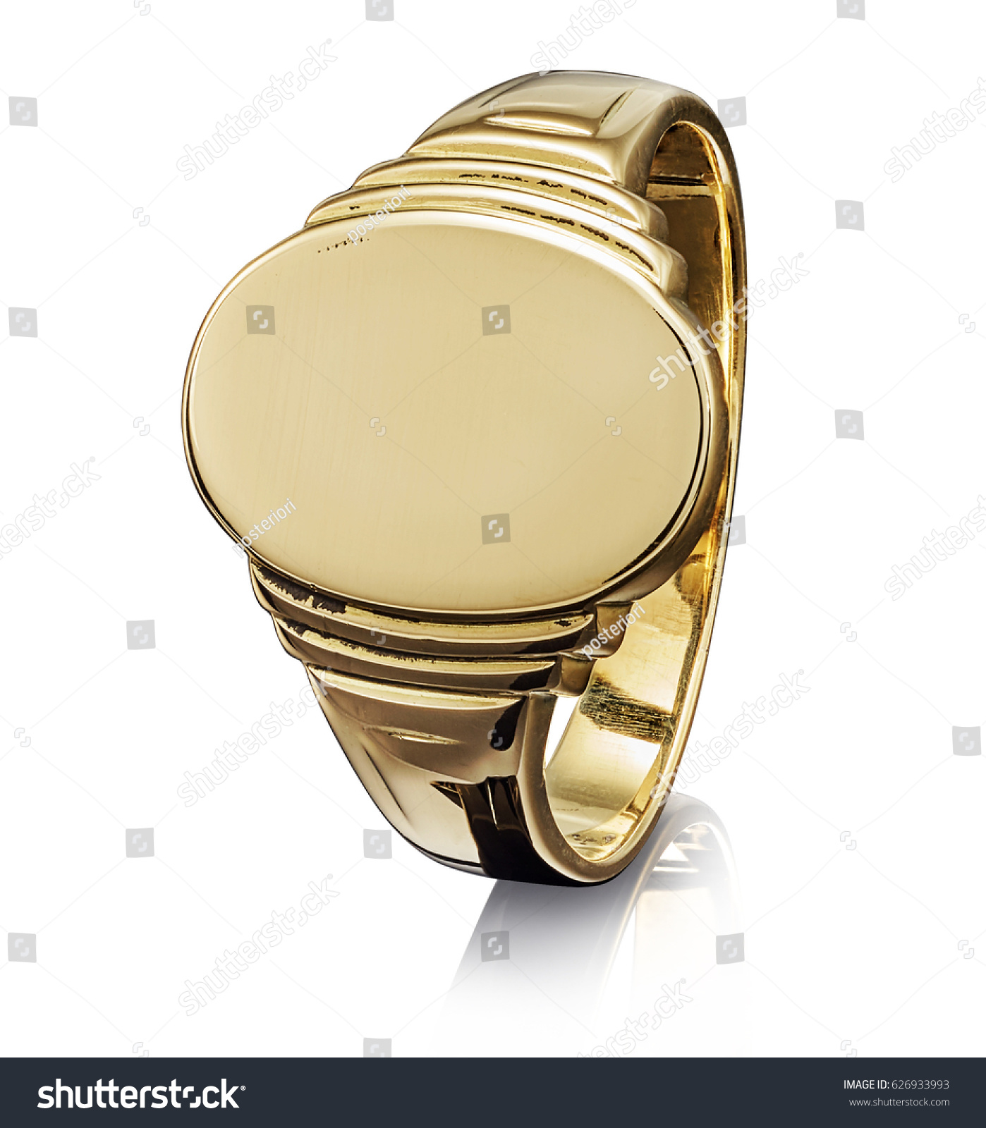 Beautiful Golden Ring Isolated On White Stock Photo 626933993 ...
