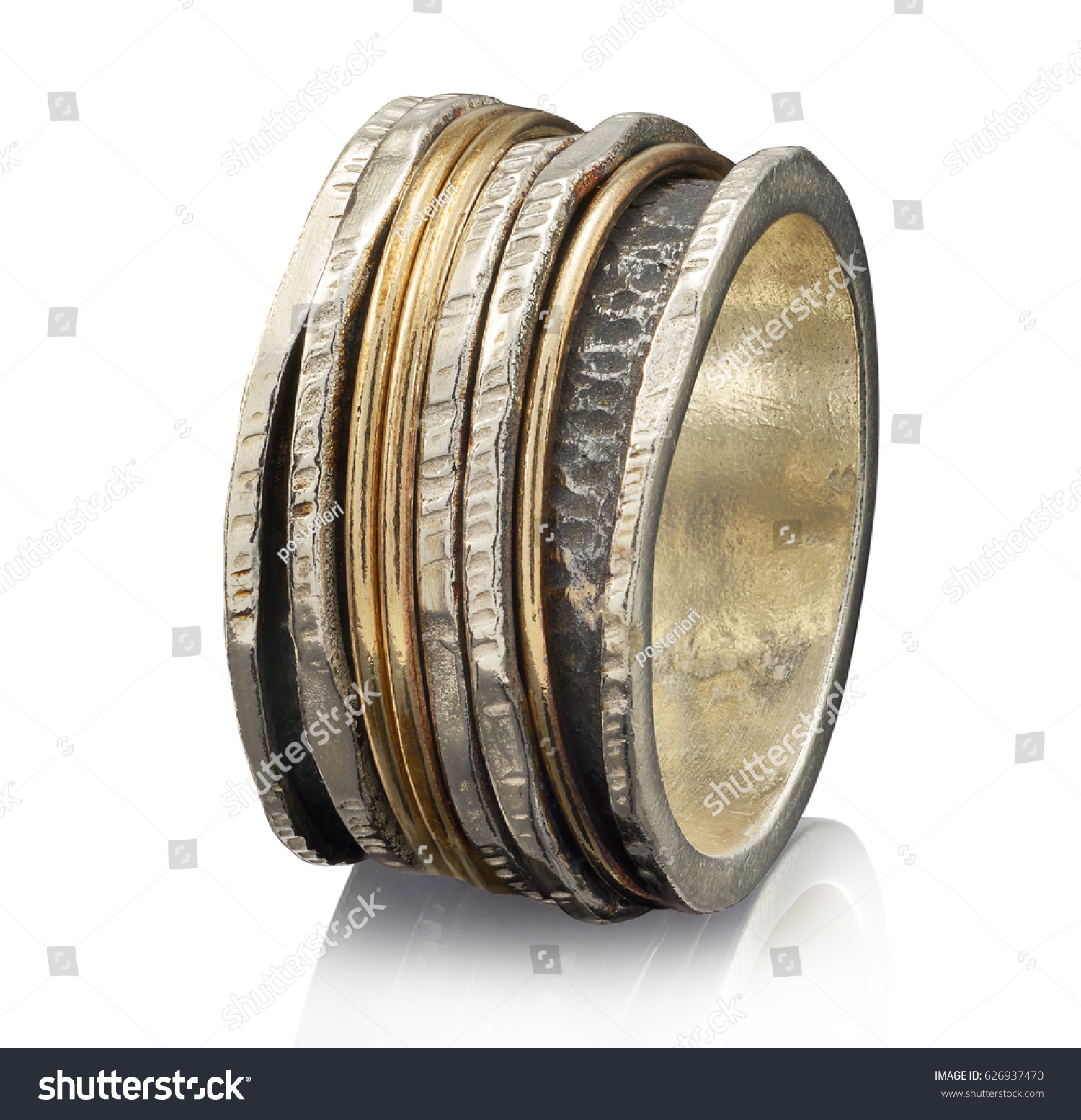Beautiful Golden Ring Isolated On White Stock Photo 626937470 ...