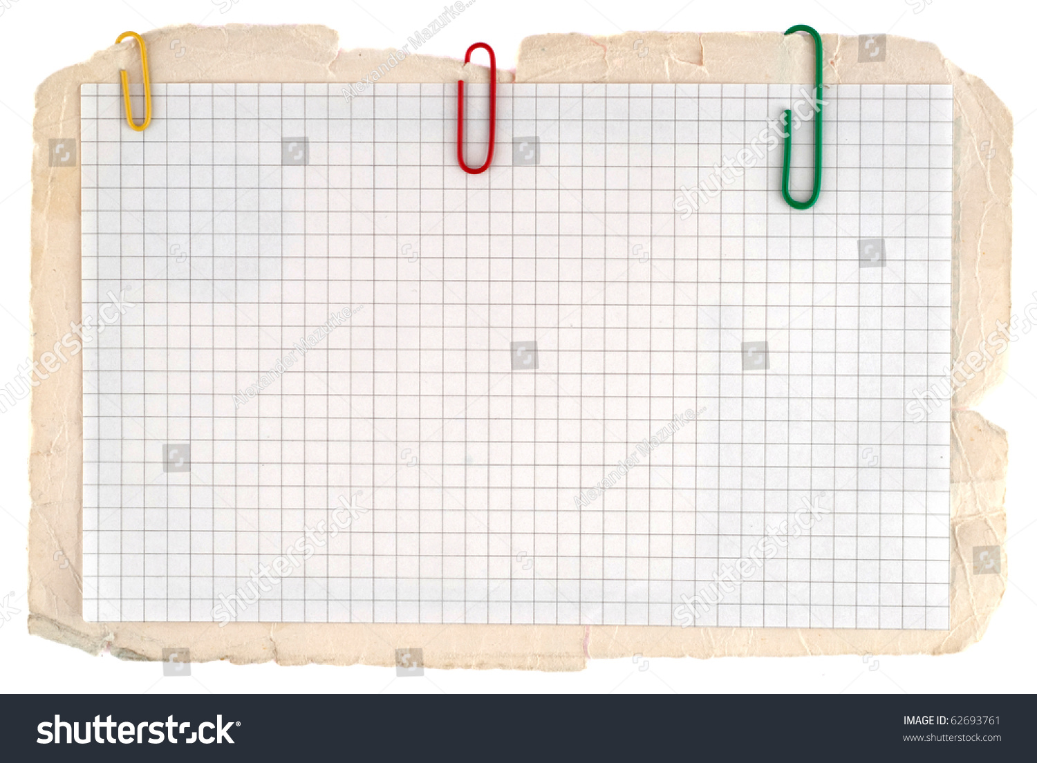 Checked Notebook Paper On Old Grungy Photo 62693761 – Notebook Paper