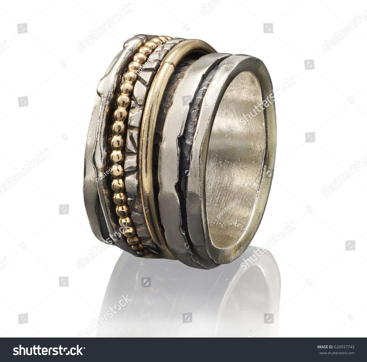 Beautiful Golden Ring Isolated On White Stock Photo 626937743 ...