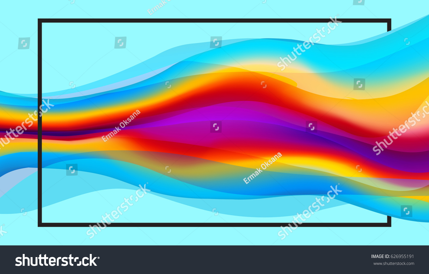 Pics photos 3d colorful abstract background design - Colorful 3d Wavy Abstract Background Trendy Vector Texture With Space For Text For Design