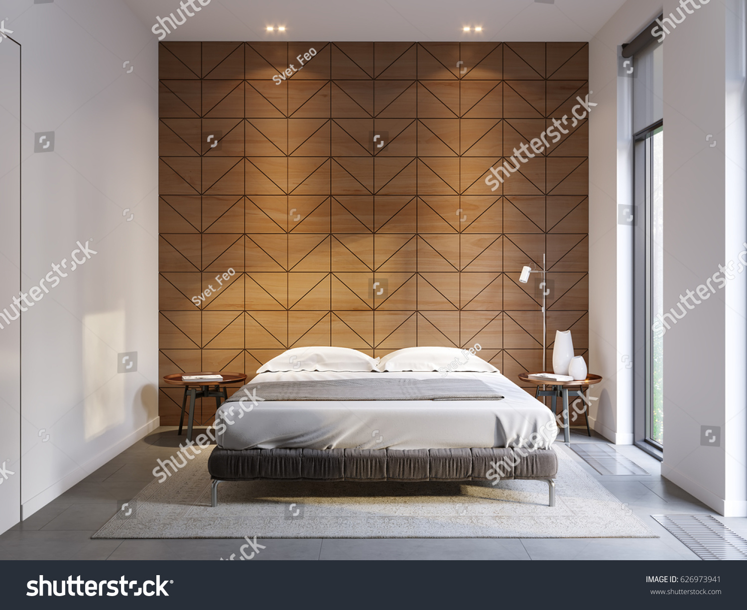 High Tech Bedroom Urban Contemporary Modern Minimalism Hightech Bedroom Stock