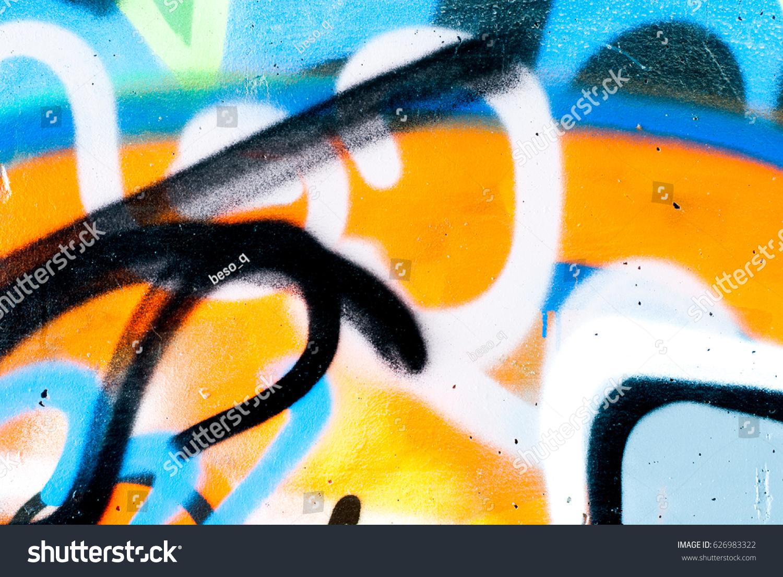 Street Art Graffiti On Wall Stock Photo 626983322 - Shutterstock