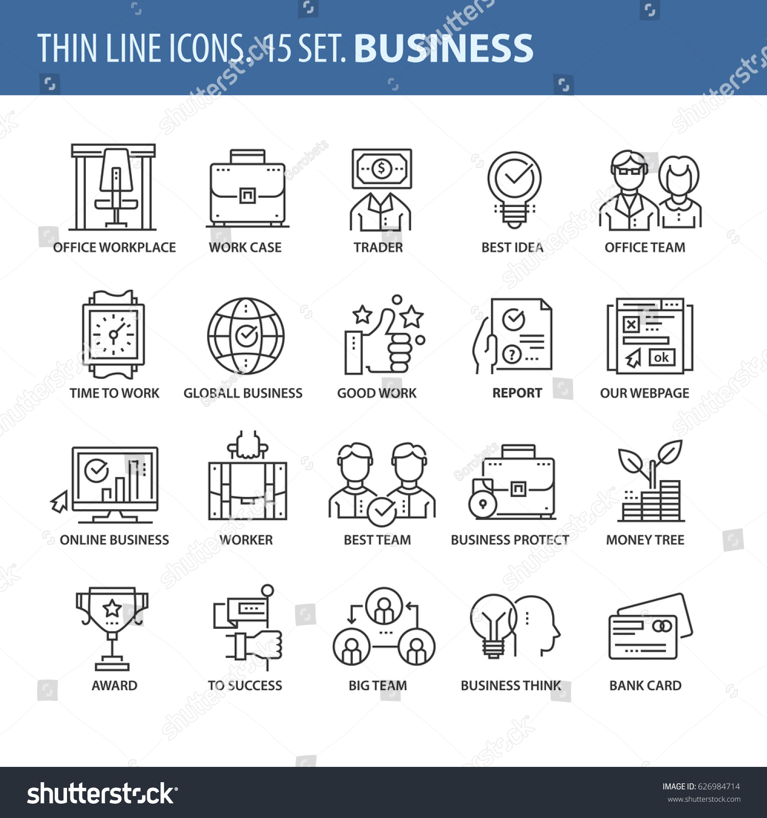 Good Quality Thin Line Icons Set Stock Vector Shutterstock