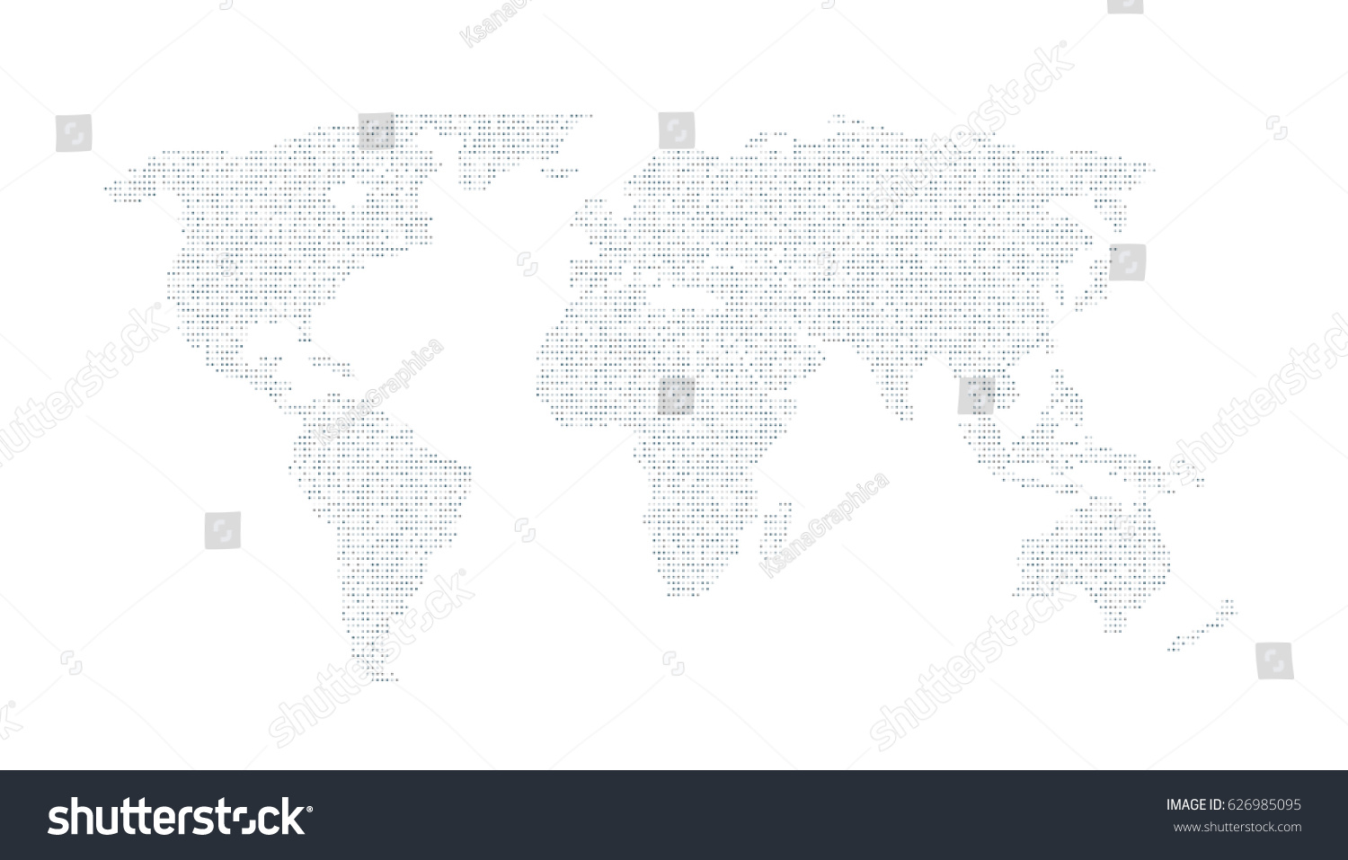 Digital grey color world map on stock vector 626985095 shutterstock digital grey color world map on the white background vector illustration gumiabroncs Gallery