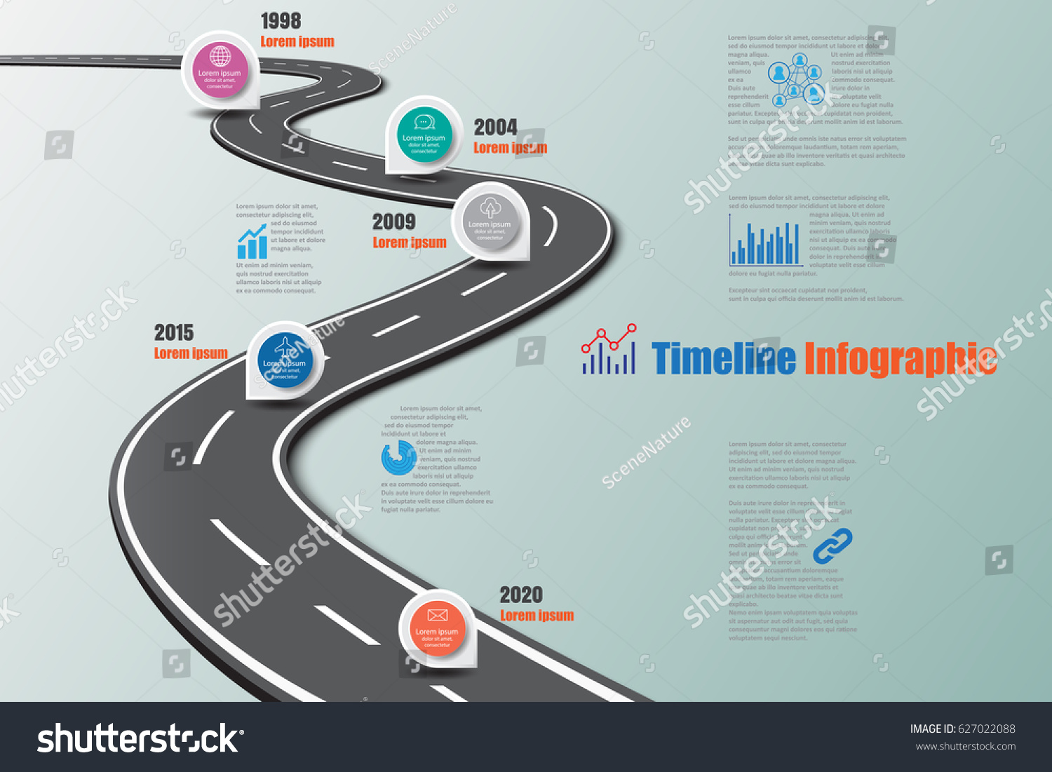 Design Template Road Map Timeline Infographic Stock Vector - Roadmap timeline template
