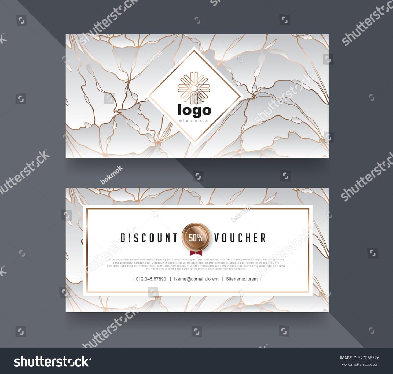 Gift Voucher Template Luxury Patternvector Illustration Stock ...