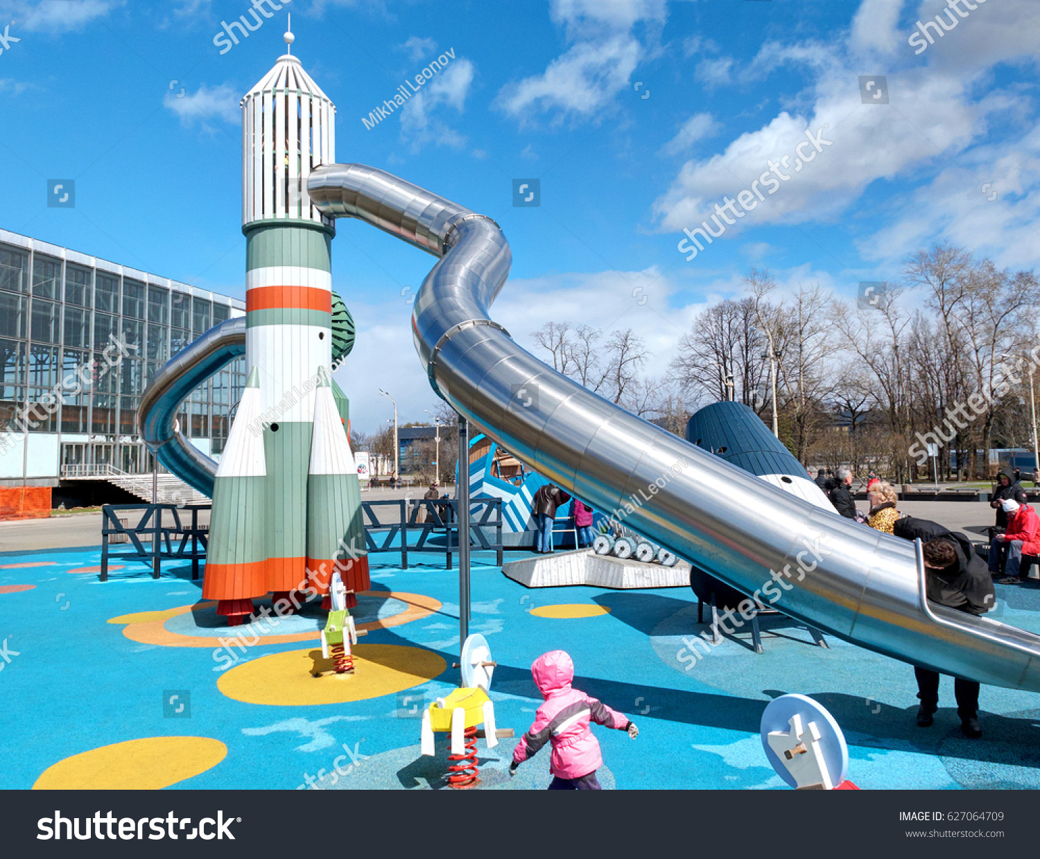 VDNKH MOSCOW APR 23 2017 Incredible Unusual Stock Photo (Edit Now ...