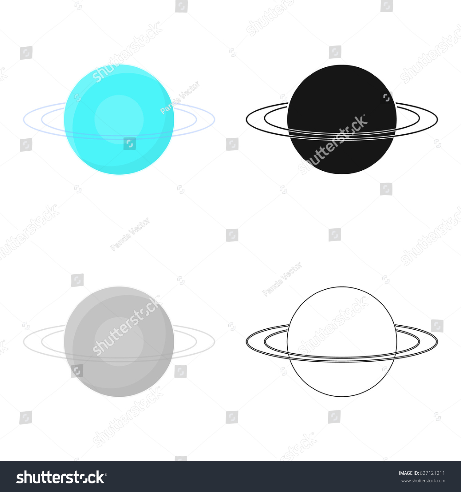 Uranus icon cartoon style isolated on stock vector 627121211 uranus icon in cartoon style isolated on white background planets symbol stock vector illustration biocorpaavc Images
