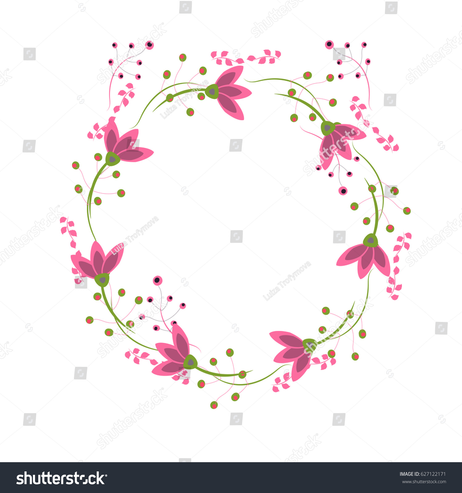 Wreath Perfect Invitations Greeting Cards Quotes Stock Vector