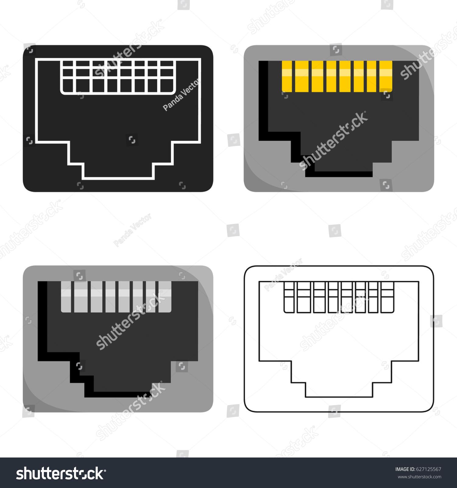 Network port symbol choice image symbol and sign ideas lan port icon cartoon style isolated stock vector 627125567 lan port icon in cartoon style isolated buycottarizona