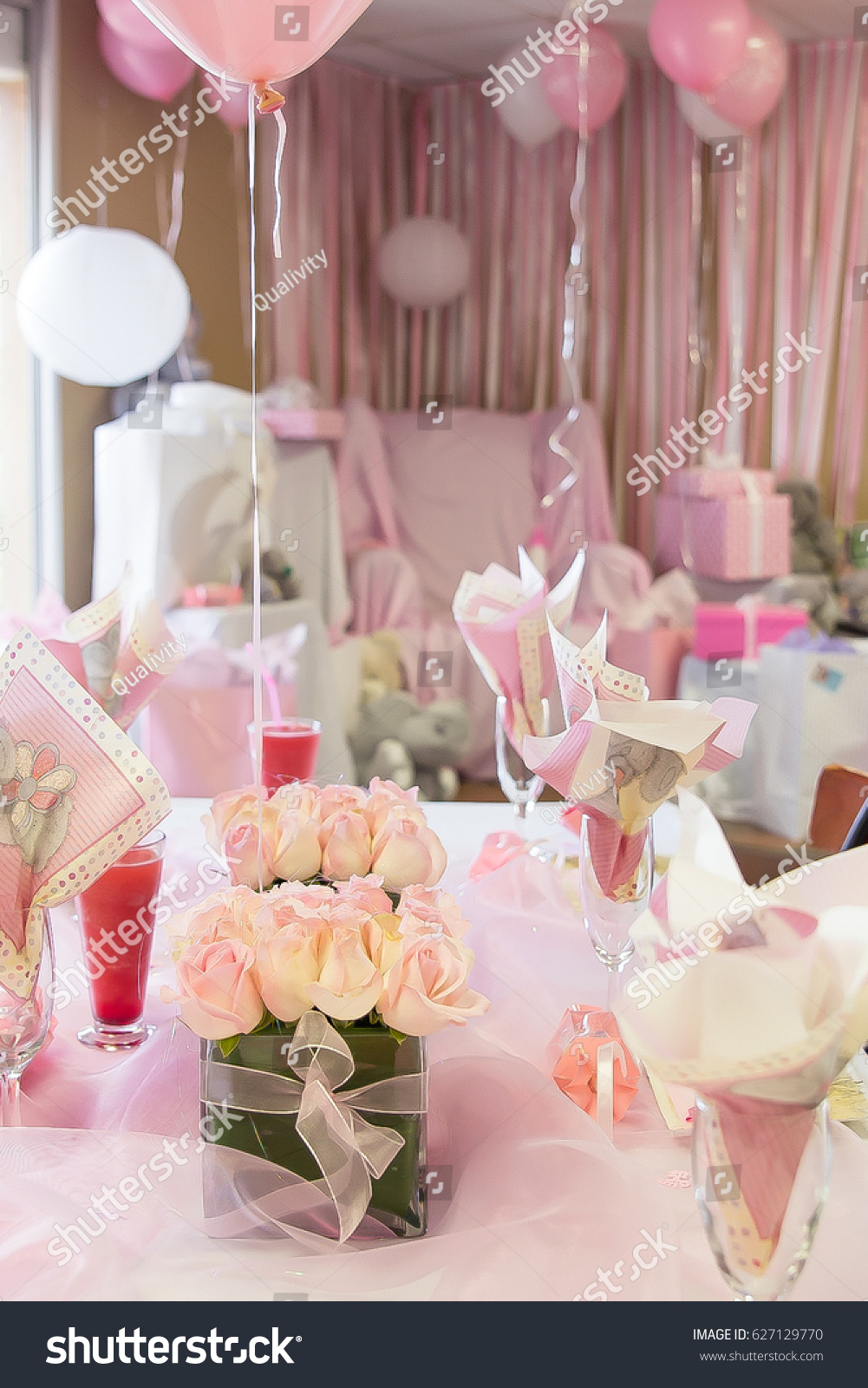 Baby Shower Hen Party Table Decorations Stock Photo (Edit Now ...