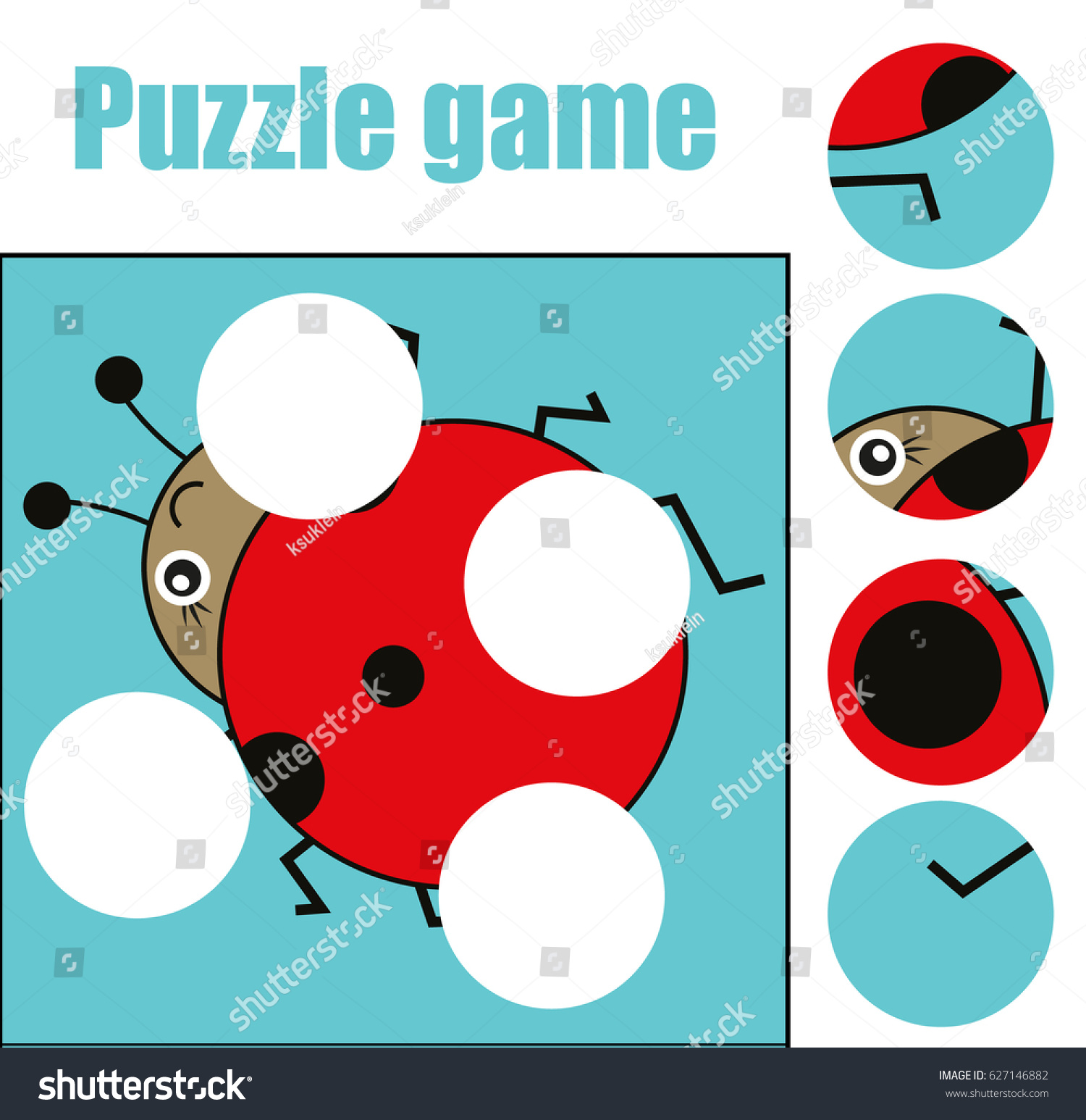 Matching Children Educational Game Match Pieces Stock Illustration ...