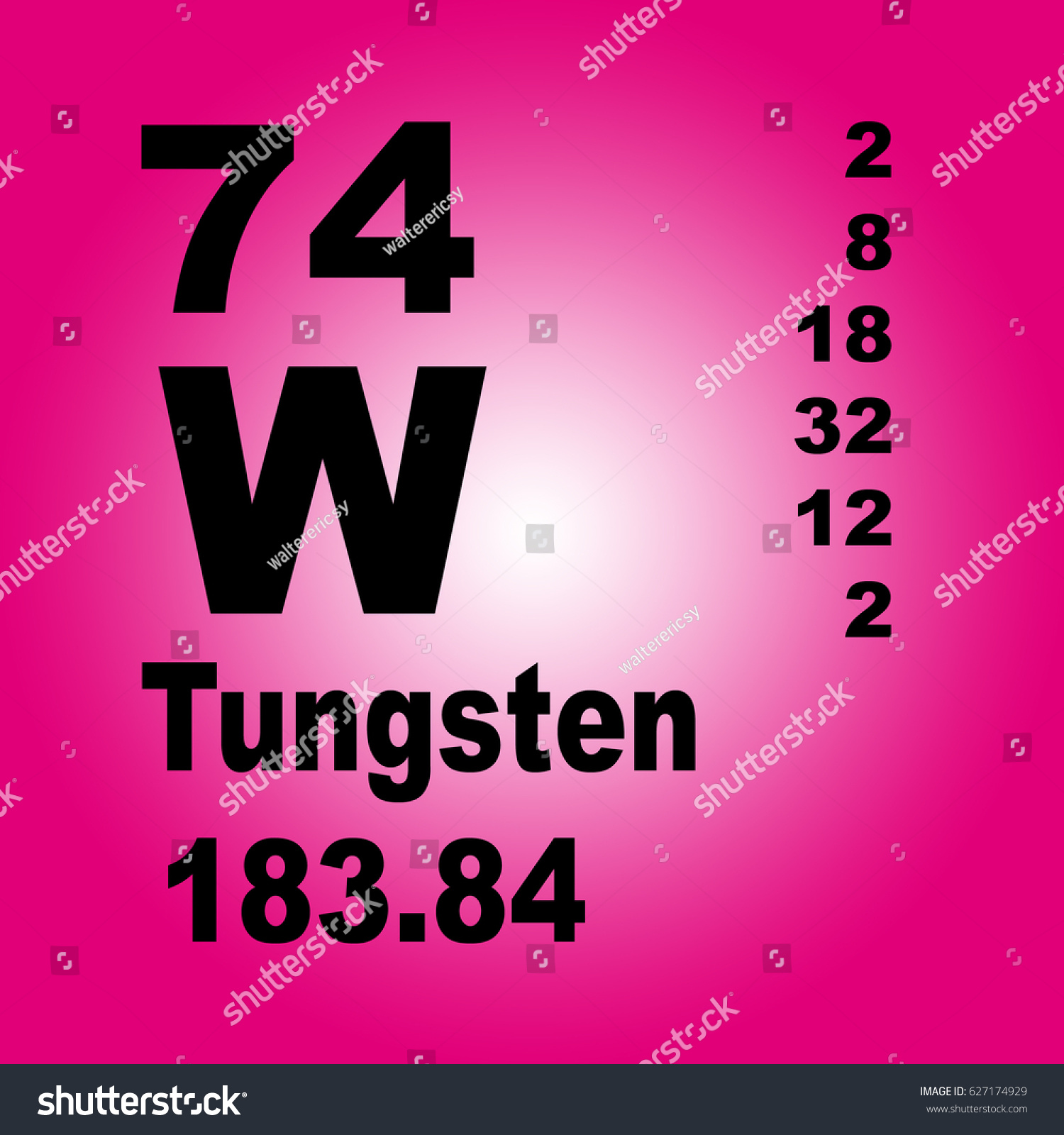 Tungsten periodic table elements stock illustration 627174929 tungsten periodic table of elements urtaz Choice Image