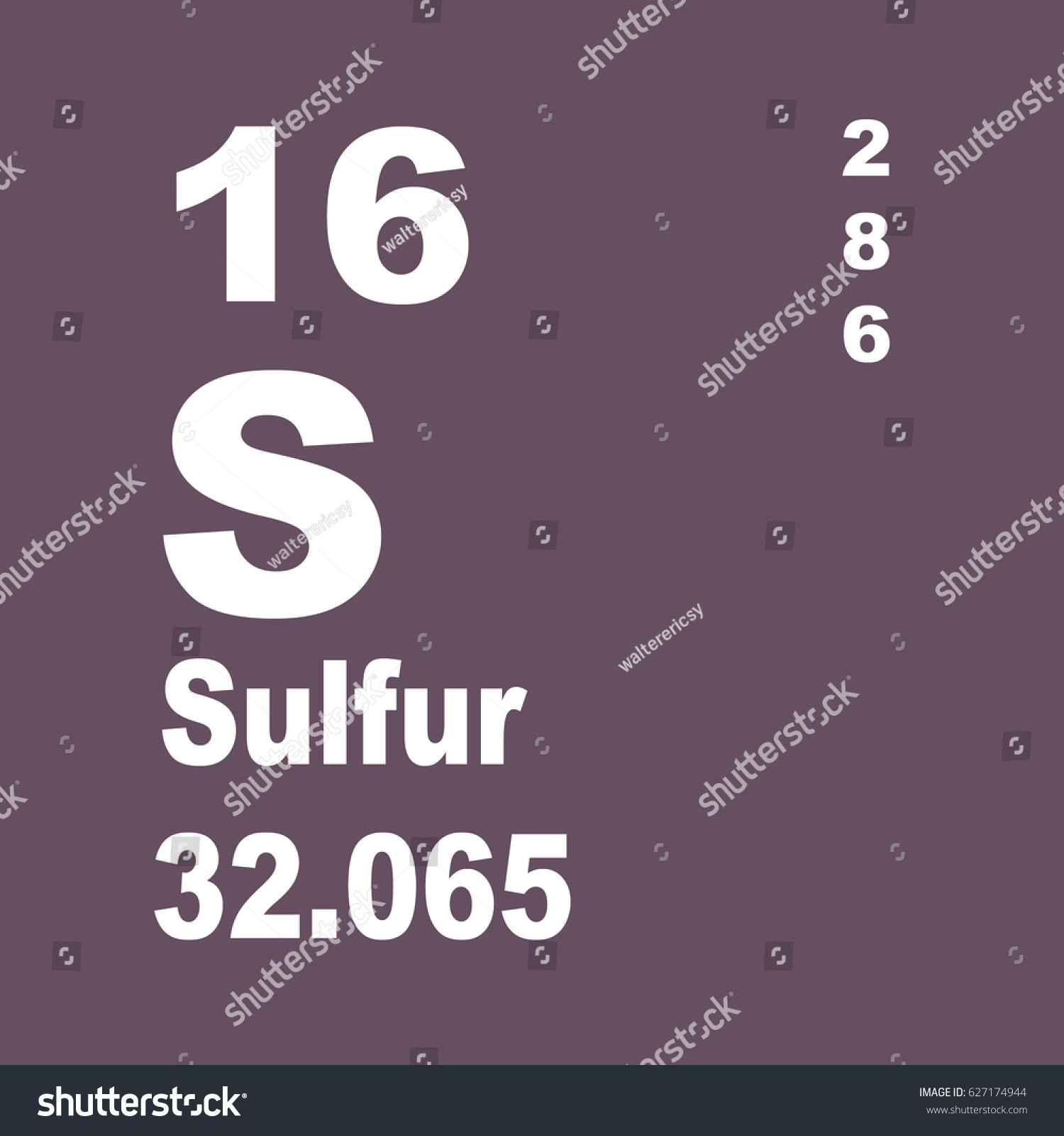 Sulfur periodic table elements stock illustration 627174944 sulfur periodic table of elements gamestrikefo Choice Image