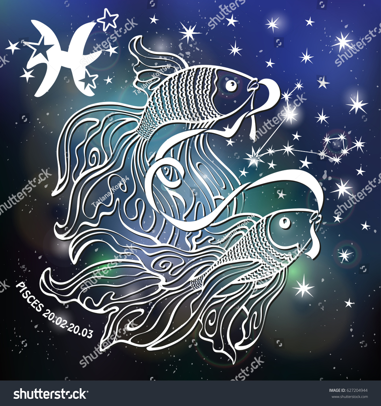 Royalty Free Stock Illustration Of Pisces Zodiac Sign Pisces