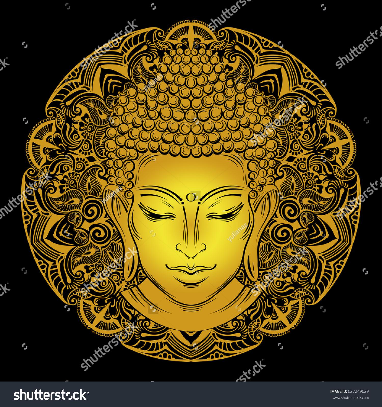 Stock Images, Royalty-Free Images  for Gautam Buddha Face Tattoo  587fsj