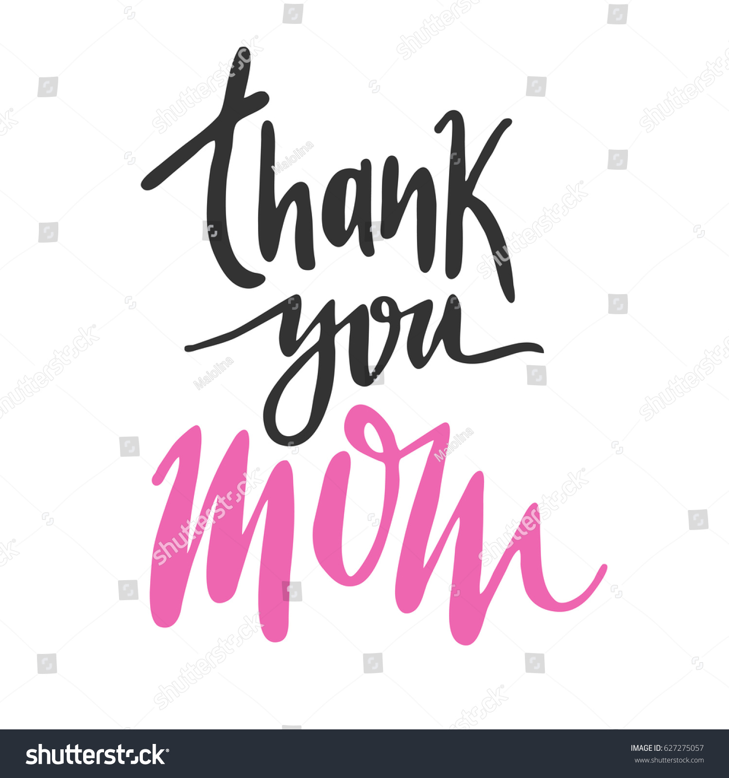 Message Thank You Mom Happy Mothers Stock Vector Royalty Free