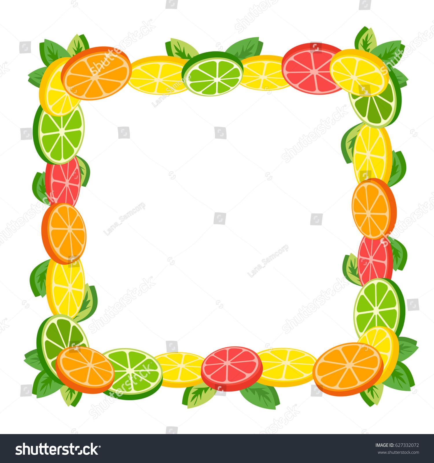 citrus fruits decorative background sliced lemon stock illustration rh shutterstock com