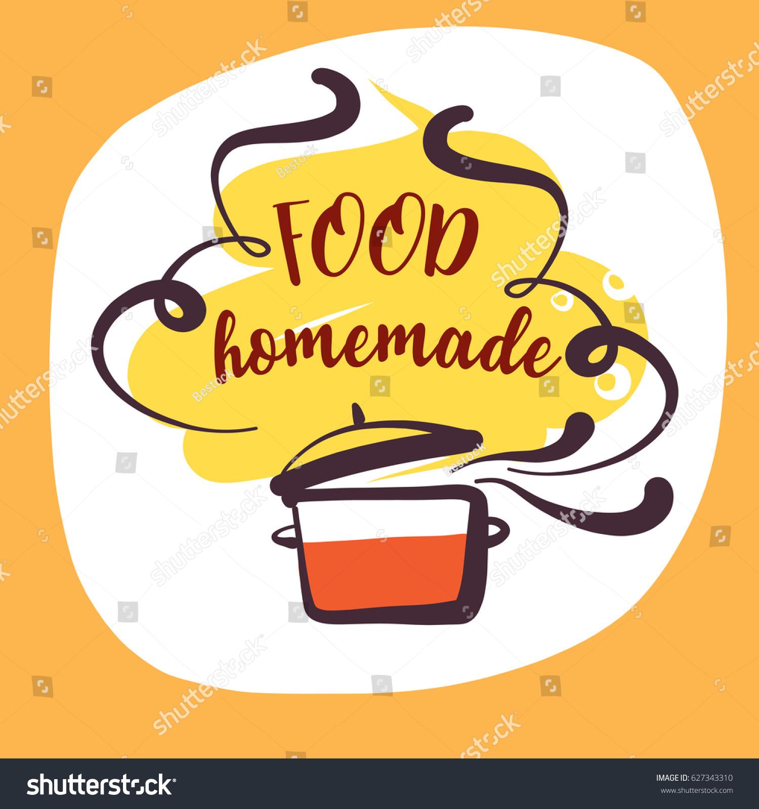 Handdrawn logo delicious homemade food recipe vector de handdrawn logo delicious homemade food recipe vector de stock627343310 shutterstock forumfinder Gallery