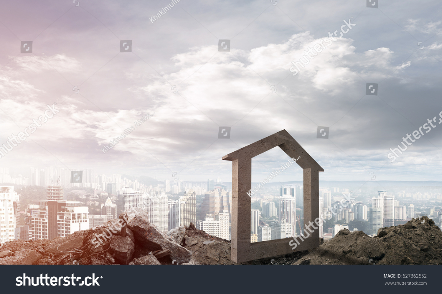 House stone figure symbol construction real stock photo 627362552 house stone figure as symbol of construction and real estate outdoors buycottarizona Image collections