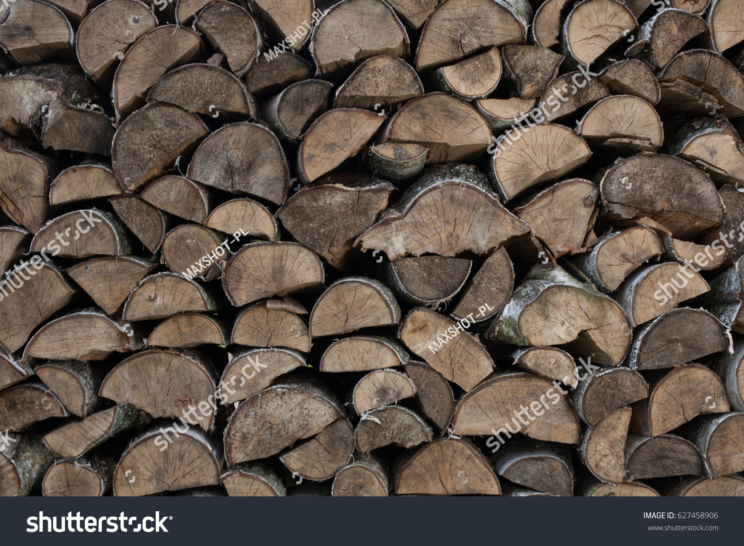 Stack Reserve Wood Fireplace Natural Fuel Stock Photo Edit Now