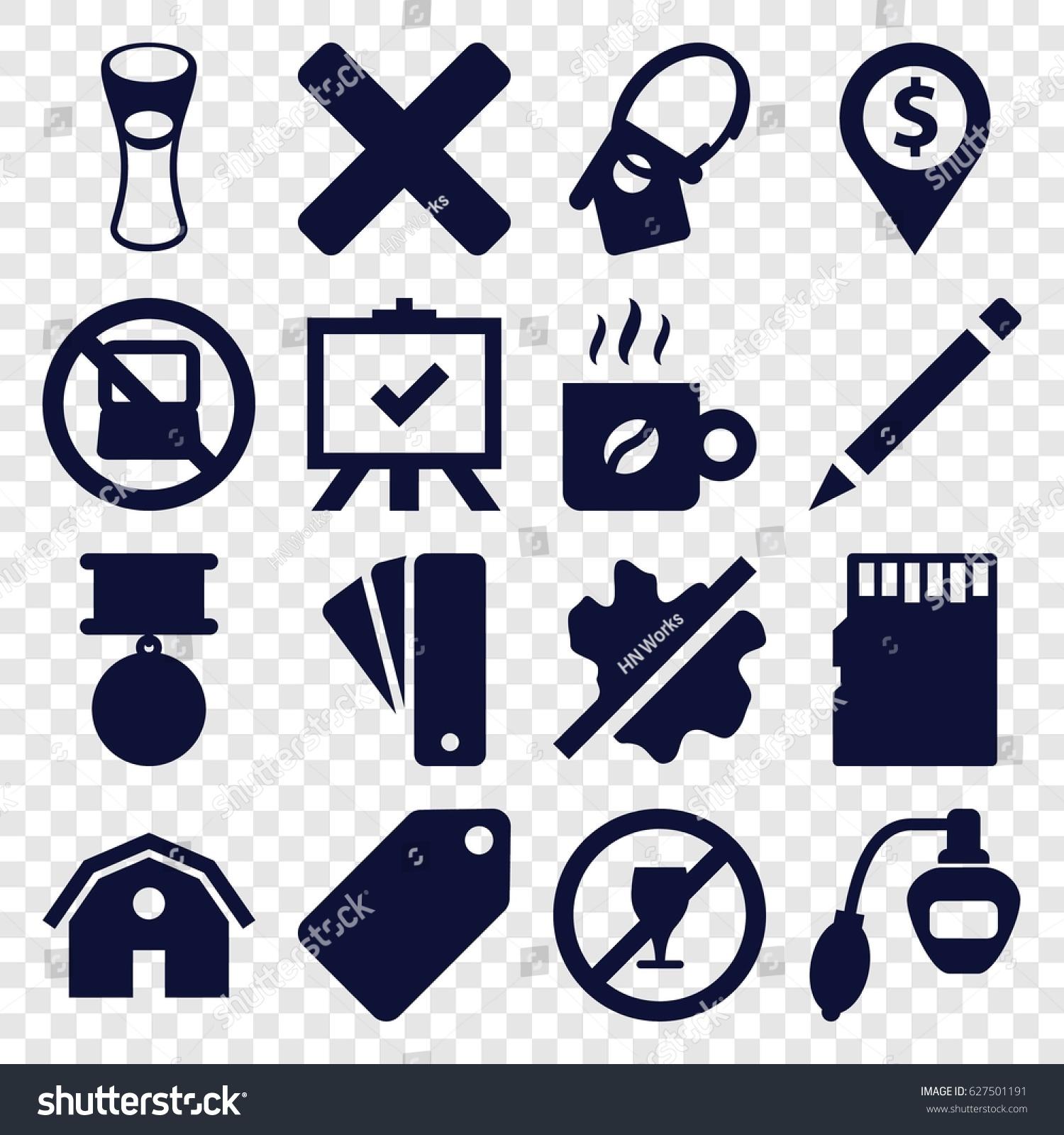 Label icons set set 16 label stock vector 627501191 shutterstock label icons set set of 16 label filled icons such as no laptop barn biocorpaavc