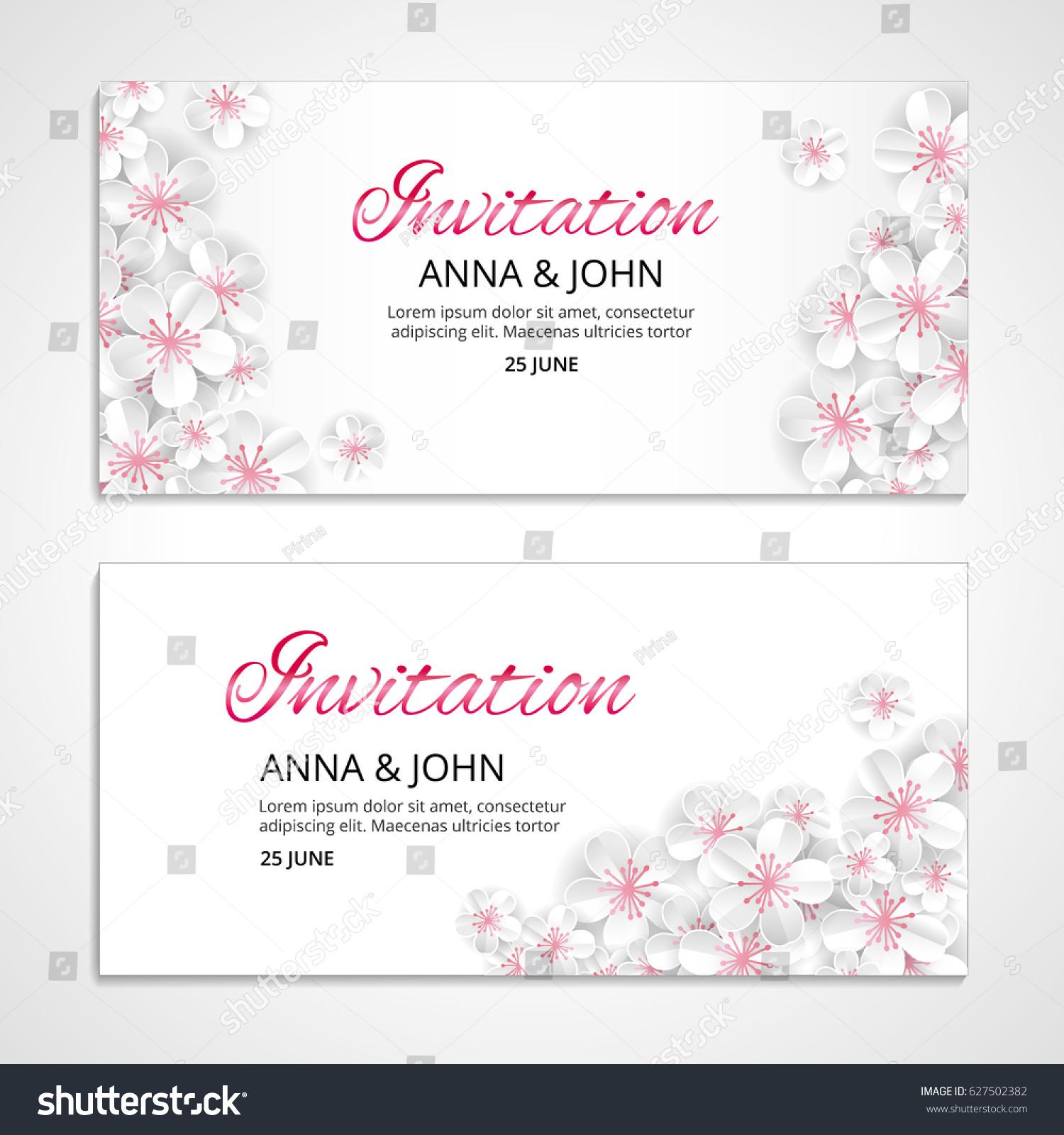 flower wedding paper invitation weddings background stock vector