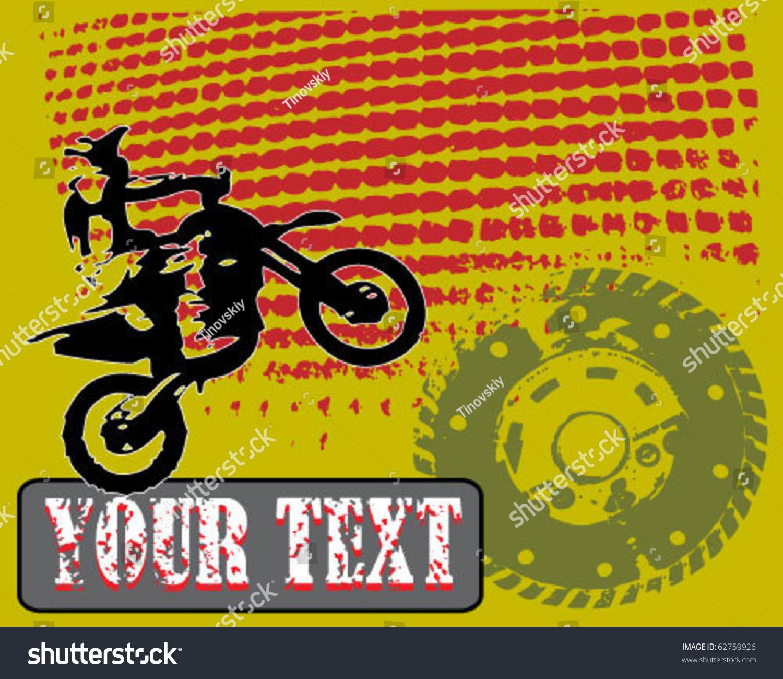 Grunge Motocross Vector Stock Vector (Royalty Free) 62759926 ...