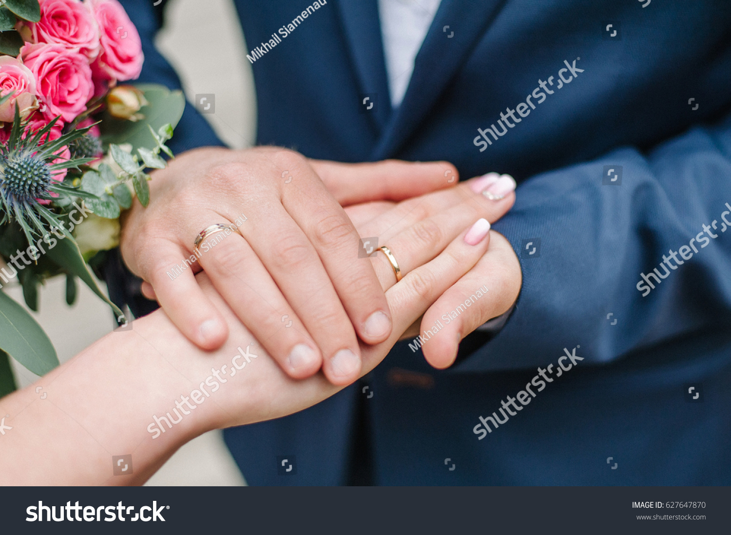 Hands Newlyweds Wedding Rings Hands Lie Stock Photo (Download Now ...