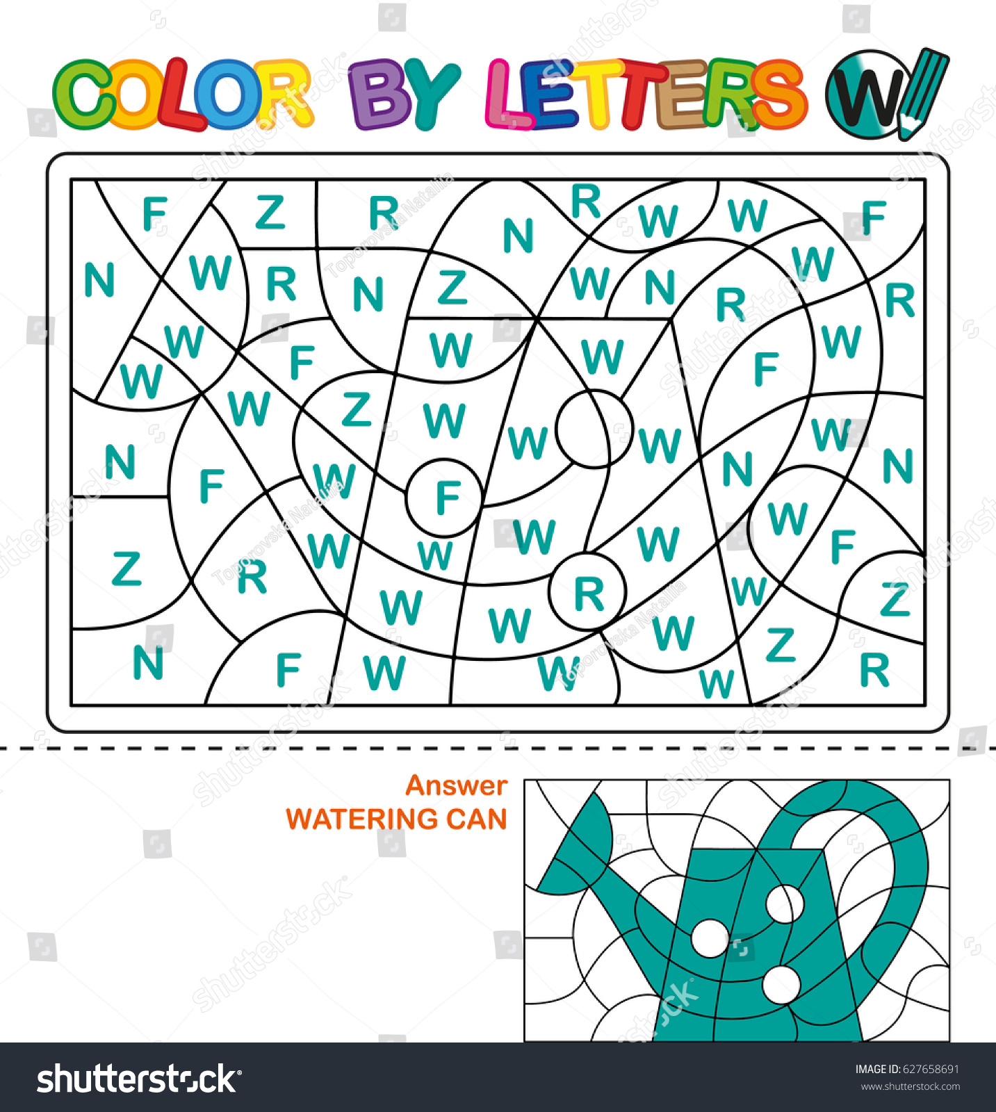 ABC Coloring Book Children Color By Stock Vector (Royalty Free ...