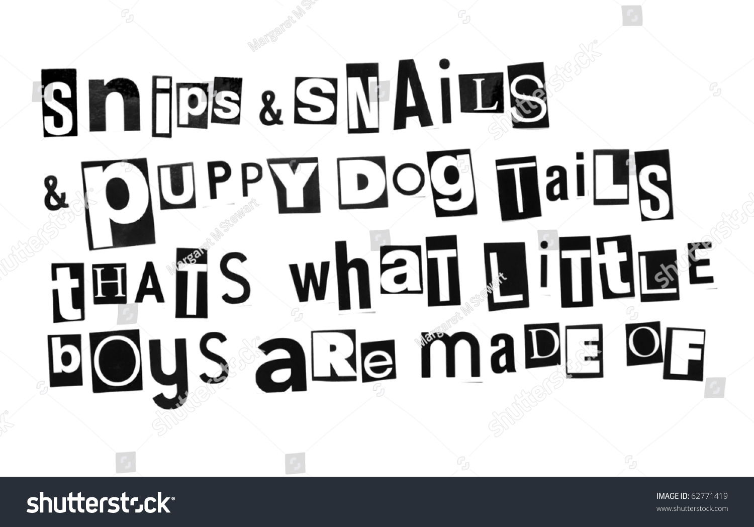 Old Nursery Rhyme Snips Snails Puppy Stock Photo 62771419