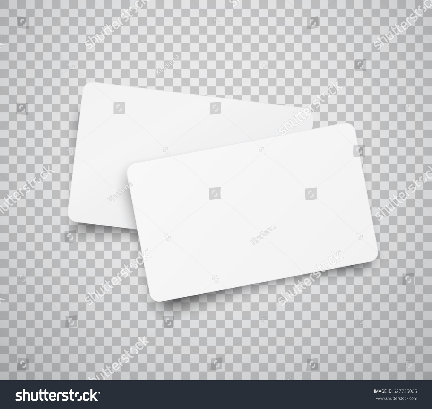 blank horizontal plastic paper business cards stock vector