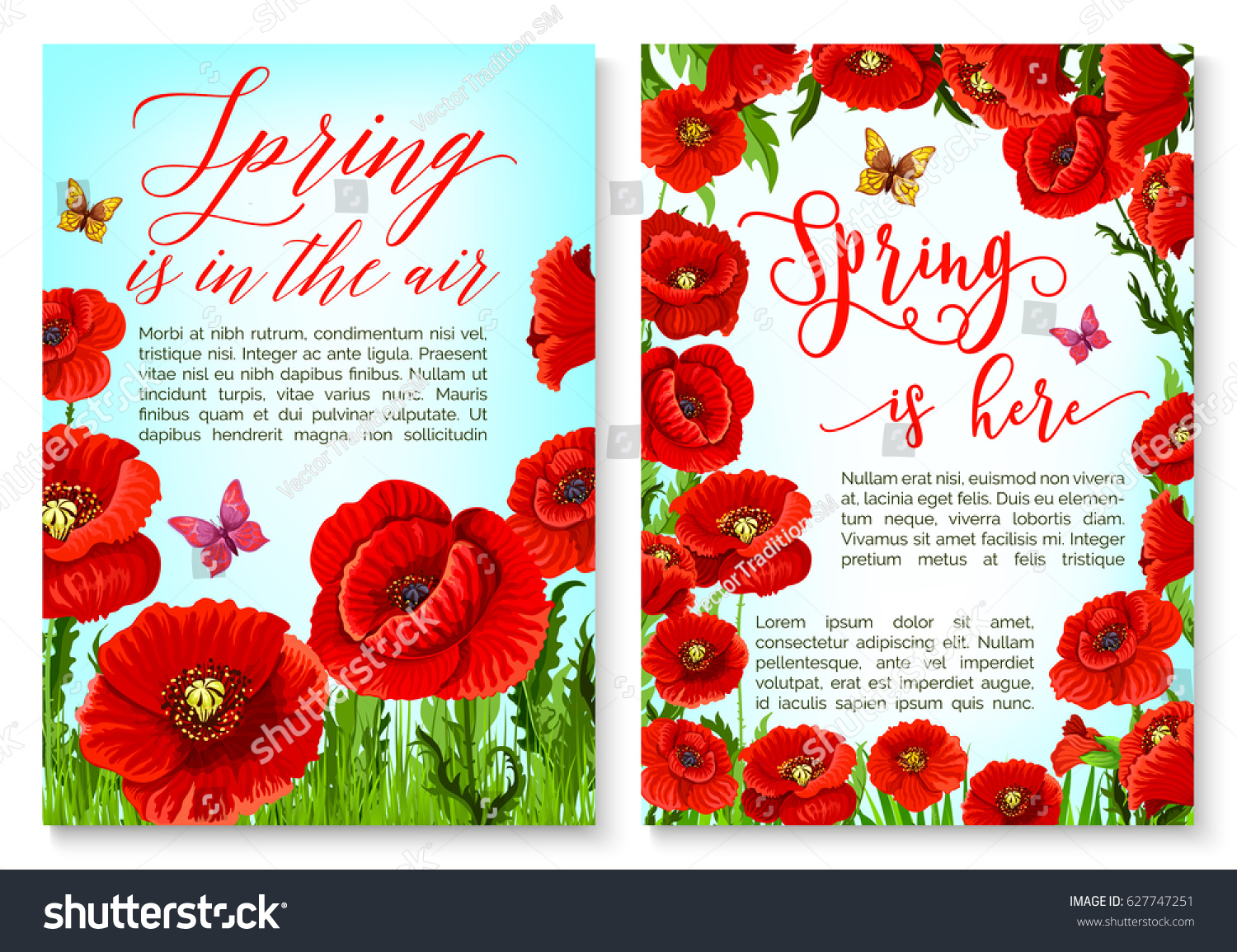 Hello Spring Greeting Card Flower Frame Stock Vector Royalty Free