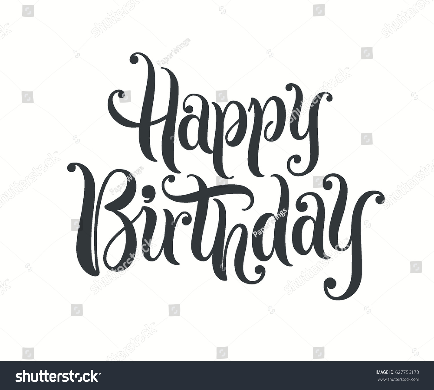 Happy Birthday Illustration Font ~ Happy birthday lettering text banner vector stock shutterstock
