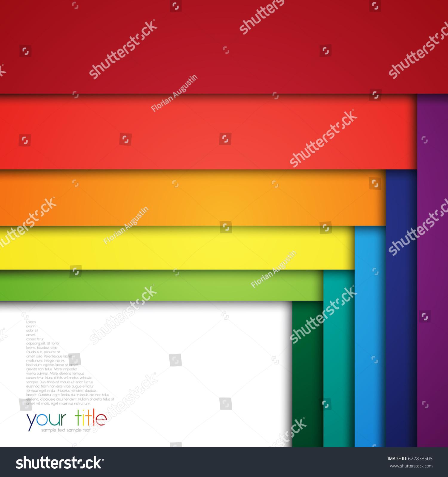 3d design color banners website presentation stock vector, Presentation templates