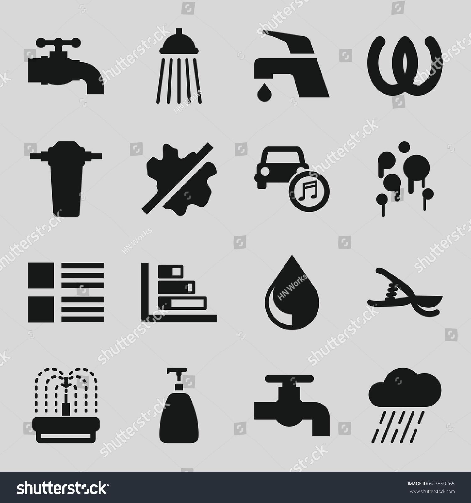 Drop icons set set 16 drop stock vector 627859265 shutterstock drop icons set set of 16 drop filled icons such as soap tap biocorpaavc