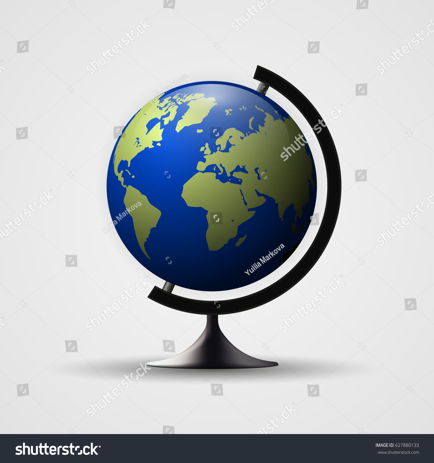 Earth globe illustration 3 d planet icon stock illustration earth globe illustration 3d planet icon world map gumiabroncs Choice Image