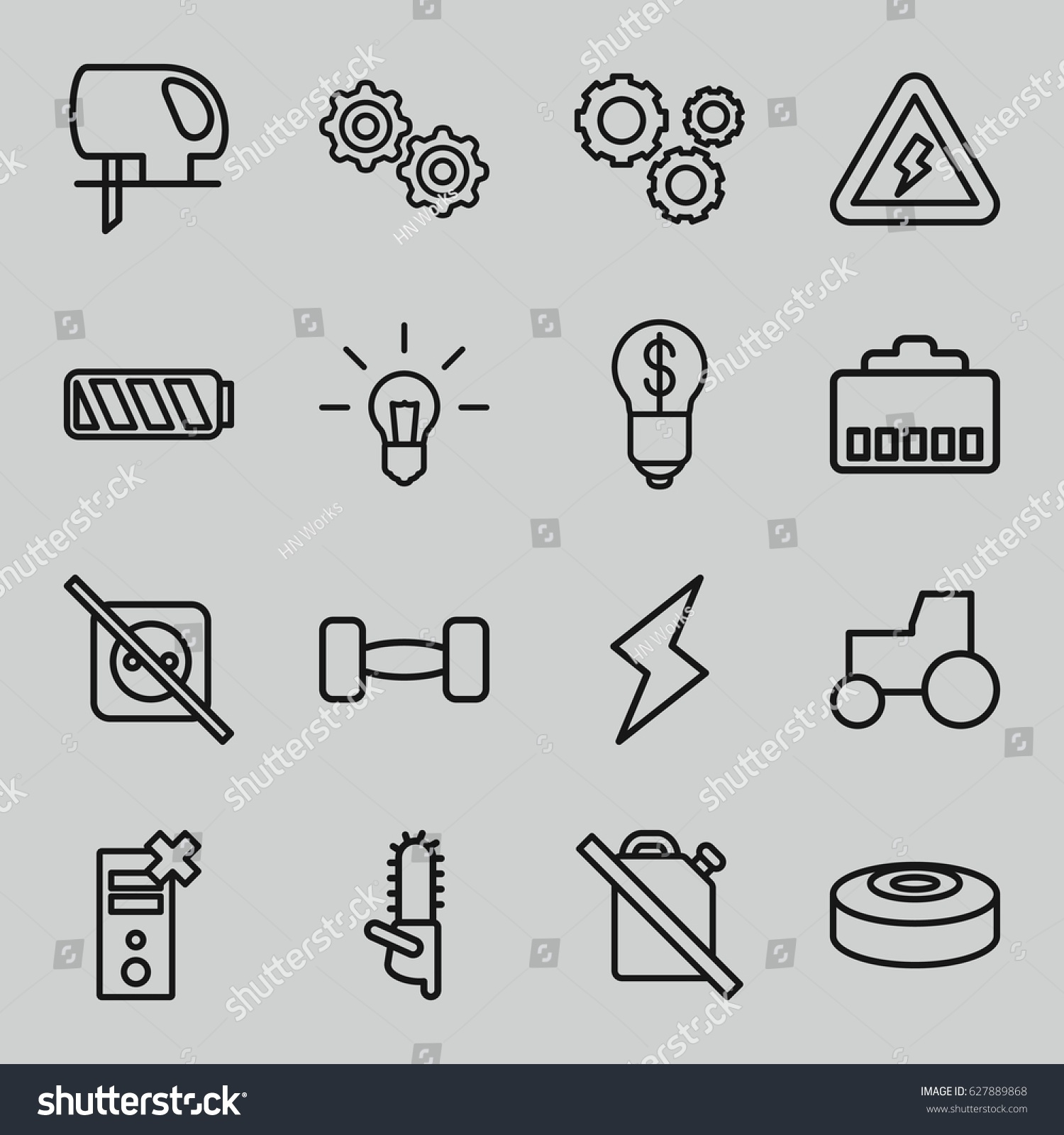 The power of outlining when flight operations manager cover letter power icons set set 16 power stock vector 627889868 shutterstock stock vector power icons set set of power outline icons such as tractor electric saw buycottarizona Gallery