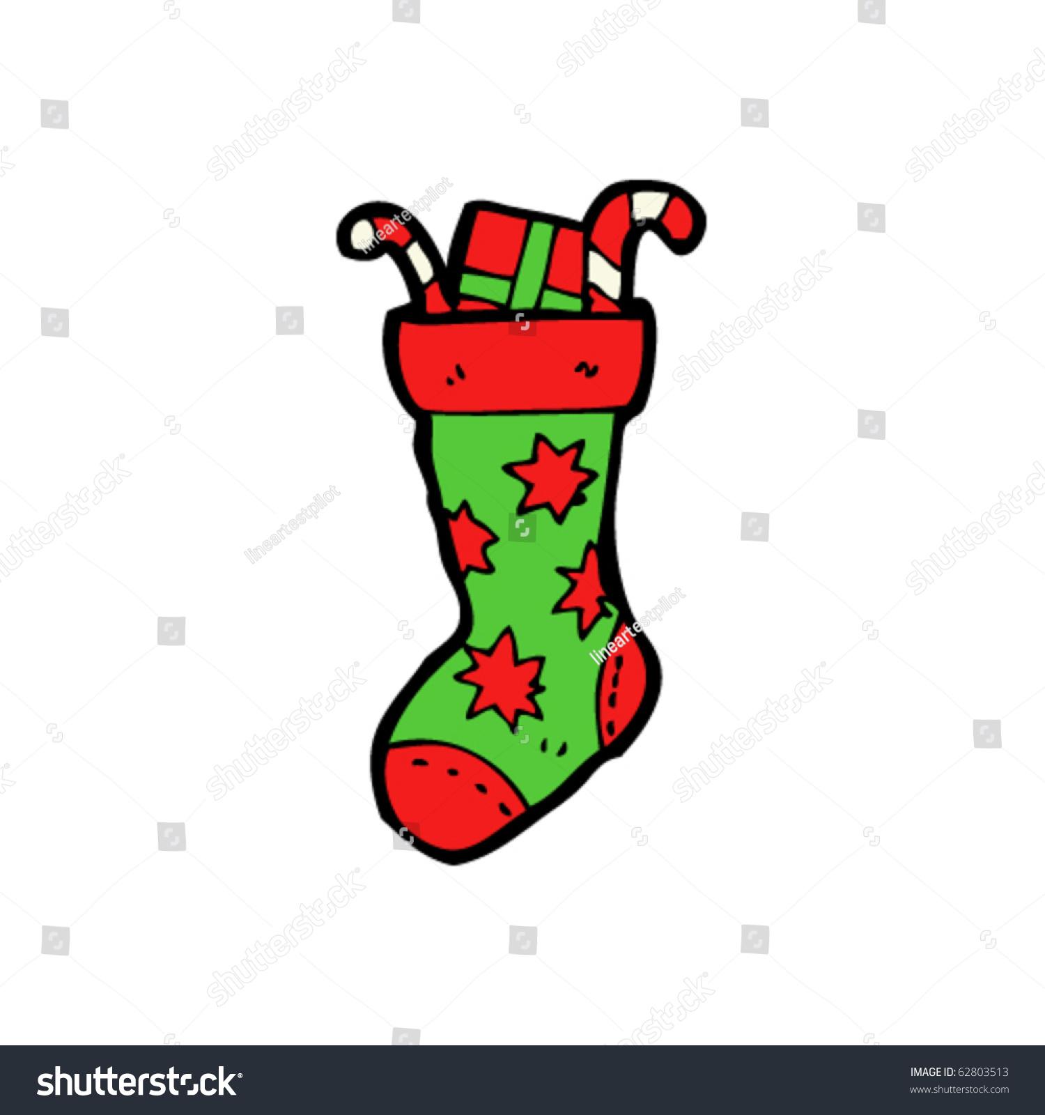 Christmas Stockings Clipart Free Stock Vector Stuffed Christmas Stocking Cartoon