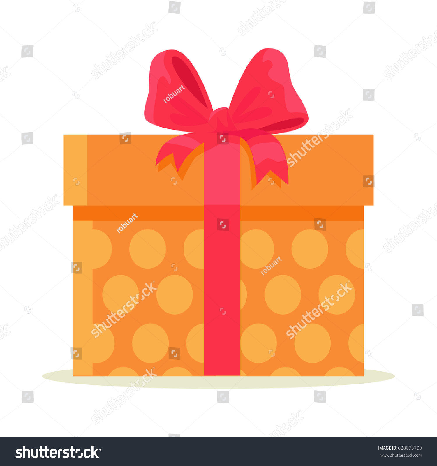 Happy easter gift box isolated on stock vector 2018 628078700 happy easter gift box isolated on white background big package wrapped in colorful paper with negle Gallery