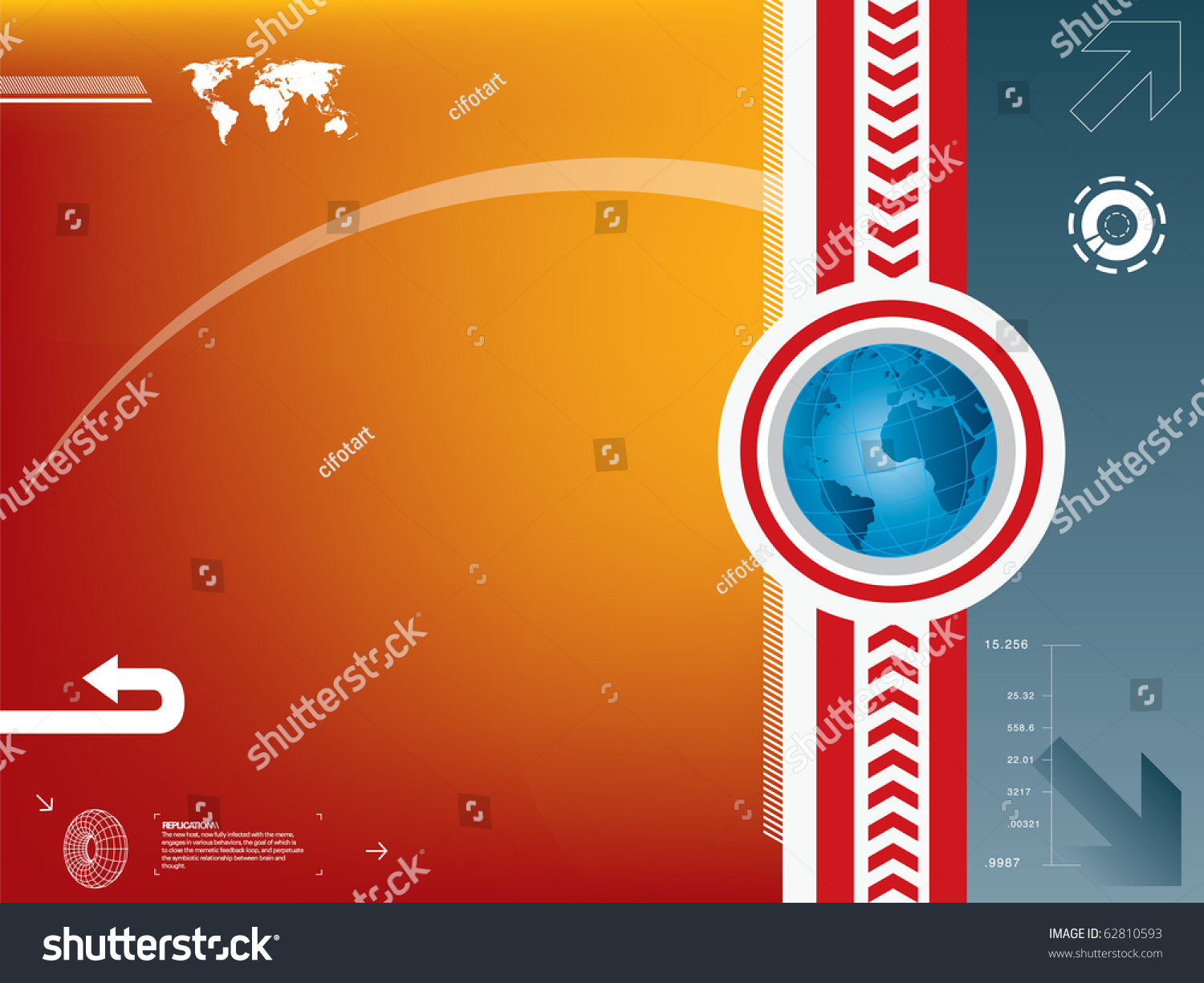Vector illustration world map globe background stock vector 62810593 vector illustration with world map and globe in background color gumiabroncs Choice Image